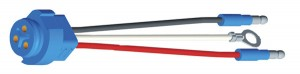 66841 – Stop Tail Turn Three-Wire Plug-In Pigtail For Male Pin Lights, 8″ Long, Chassis Ground, Slim-Line .180 Male