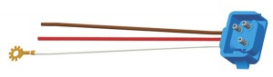 66843 – Stop Tail Turn Three-Wire 90º Plug-In Pigtail For Female Pin Lights, 18″ Long, Chassis Ground, Blunt Cut Wires, Star Ring Terminal