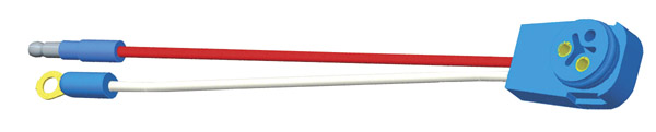 Grote Industries - 66846 – Stop Tail Turn Two-Wire 90° Plug-In Pigtail For Male Pin Lights, 10″ Long, Chassis Ground, Slim-Line .180 Male