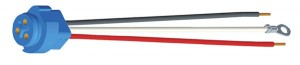 67002 – Stop Tail Turn Three-Wire Plug-In Pigtail For Male Pin Lights, 11″ Long, Chassis Ground, Blunt Cut Wire