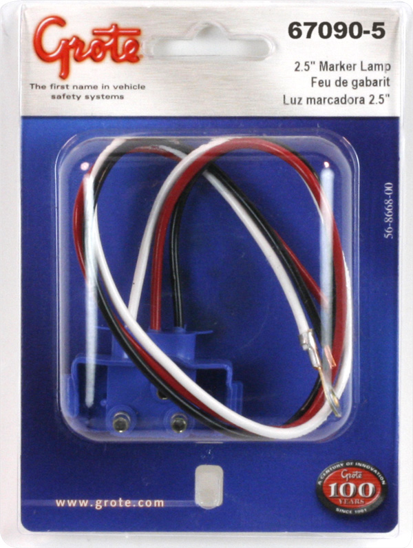 67090-5 - Universal 3-Wire 90° Plug-in Pigtail For ... on