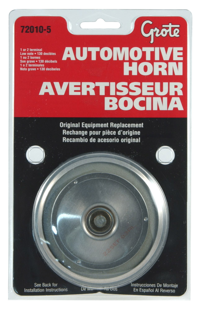 72010-5 – Electric Automotive Horn, High Import, 135 Decibels, Retail Pack