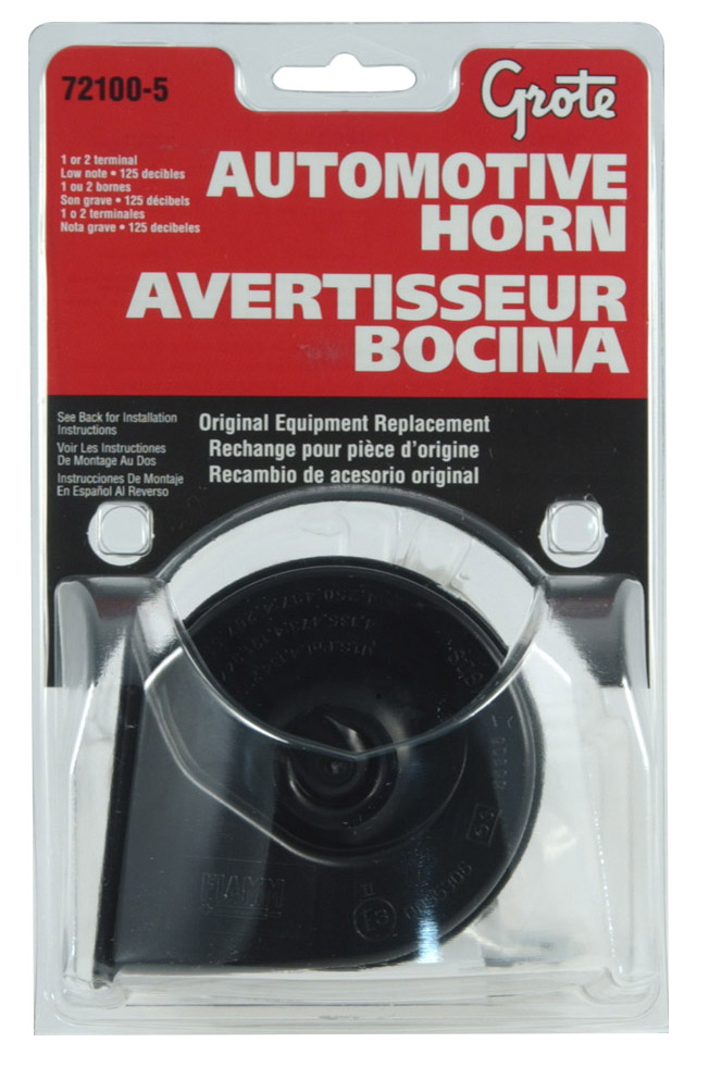 72100-5 – Electric Automotive Horns, High, 125 Decibels, Retail Pack