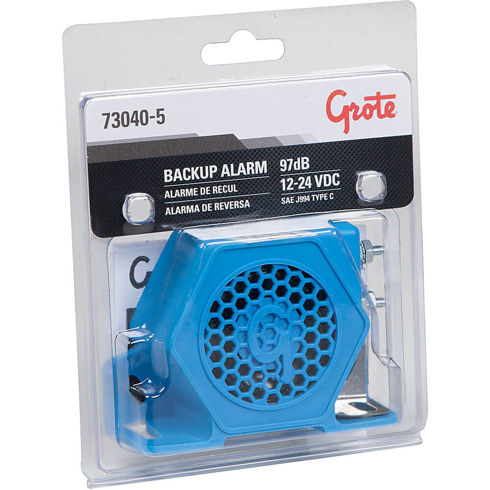 Grote Industries - 73040-5 – Medium / Low Noise Surround Backup Alarm, 97 Decibels, w/ Wire Studs, Retail Pack