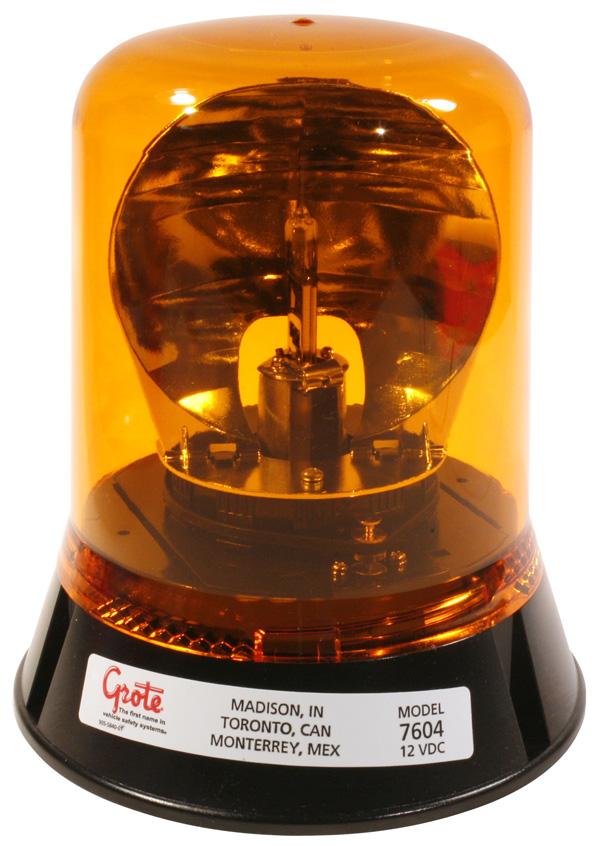 76043 – Belt Drive Rotating Beacon, Yellow