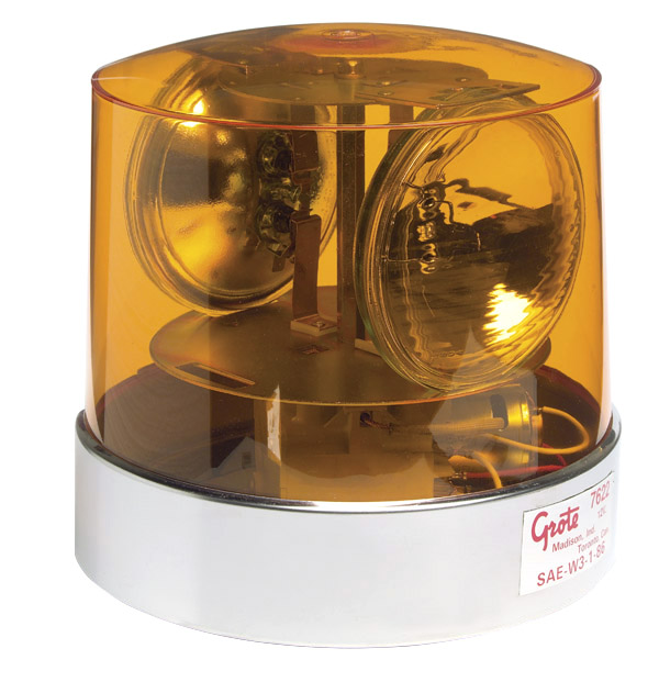 76223 – Two Sealed-Beam Roto-Beacon, Yellow