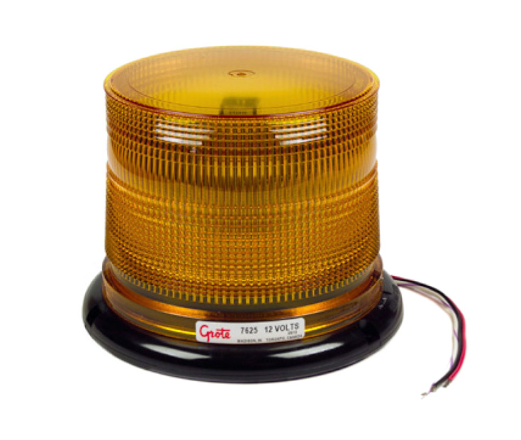 76263 – Grote Class I LED Beacon, Yellow, Low Profile, 24V