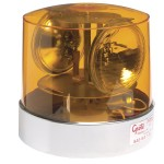 Two Sealed-Beam Roto-Beacon, Yellow w/ Polycarbonate Lens, 12 Volt