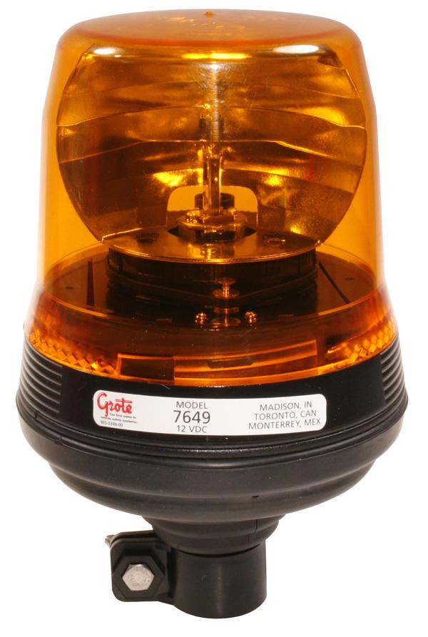 76493 - Luz estroboscópica silenciosa de perfil bajo, amarillo