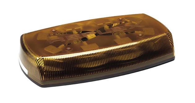 Grote Industries - 76703 – 15″ Low Profile Reflex™ Class II LED Mini Light Bar, Permanent Mount, Yellow