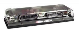 76770 – 17″ Low-Profile LED Mini Light Bar, Dual Function, Permanent Mount, Clear Lens, Yellow/Blue