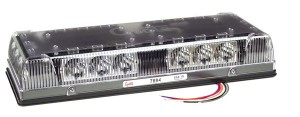 76943 – 17″ Low-Profile LED Mini Light Bar, Permanent Mount, Clear Lens, Yellow