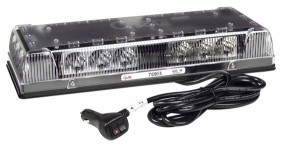 76953 – 17″ Low-Profile LED Mini Light Bar, Magnet Mount w/ Cigarette Lighter Adapter, Clear Lens, Yellow