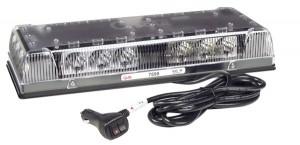 76990 – 17″ Low-Profile LED Mini Light Bar, Magnet Mount w/ Cigarette Lighter Adapter, Clear Lens, Yellow/White