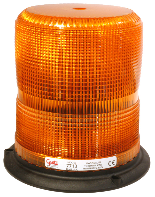 77133 – High Profile Class II Plastic-Base Strobe, Yellow