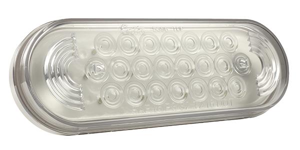 77361 – Oval LED Strobe Light, Clear