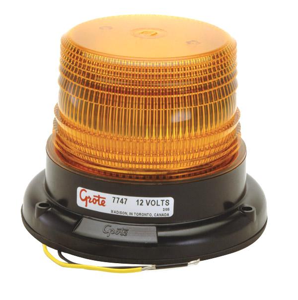 77473 – Mighty Mini LED Strobe, Permanent Mount, Yellow