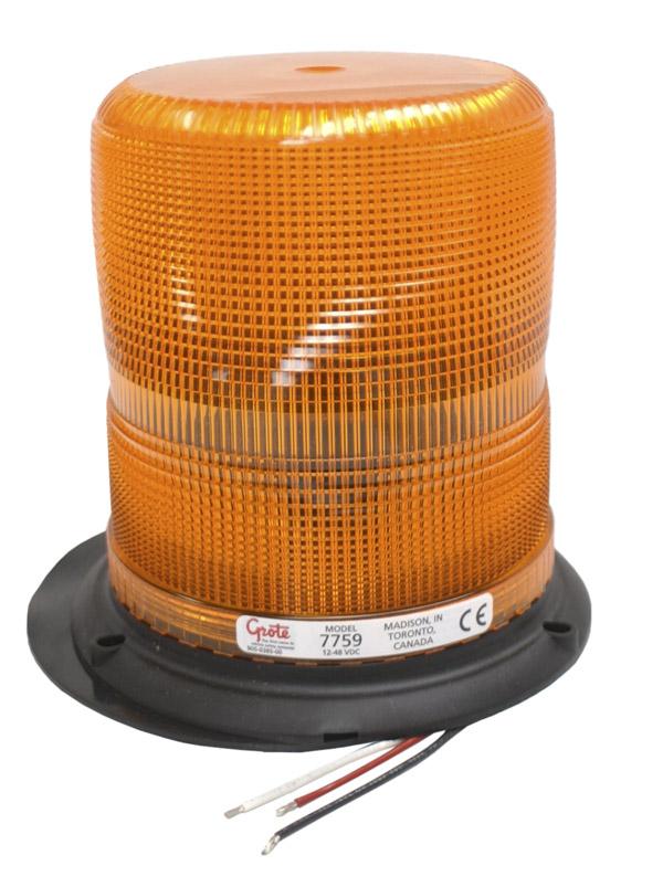 77593 – High Profile Class II Plastic-Base Strobe, Epoxy Base, Yellow