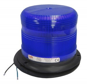 77635 – Medium Profile Heavy-Duty Strobe, Class I, Smart Strobe®, Blue