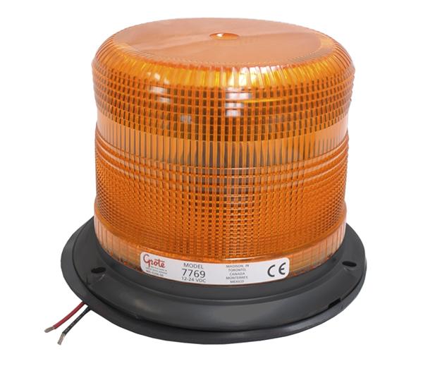 77693 – Medium Profile Heavy-Duty Strobe Light, Class II, Yellow