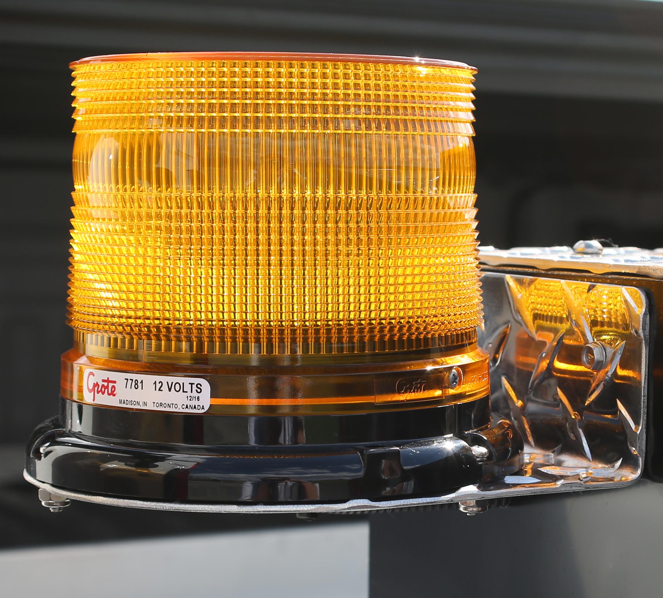 LED Strobe Light on truck panel