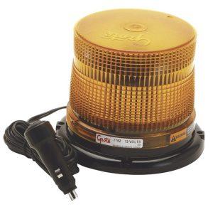 77823 – Medium Profile Class II LED Strobe, Magnet Mount w/ Cigarette Lighter Adapter, Yellow
