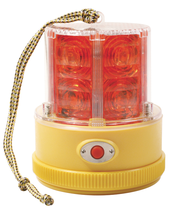 Grote Industries   77912 U2013 360° Portable Battery Operated LED Warning Light,  Red