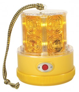 77913 – 360° Portable Battery Operated LED Warning Light, Yellow