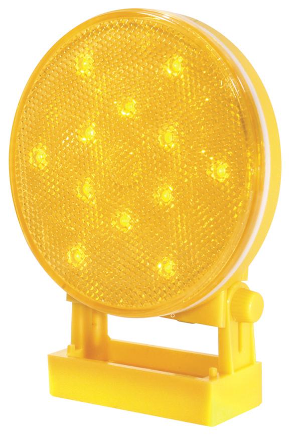 77923 – Battery-Operated LED Warning Light, Directional, Portable, Yellow