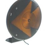 7 single face light molded terminal pigtail arrow lens yellow