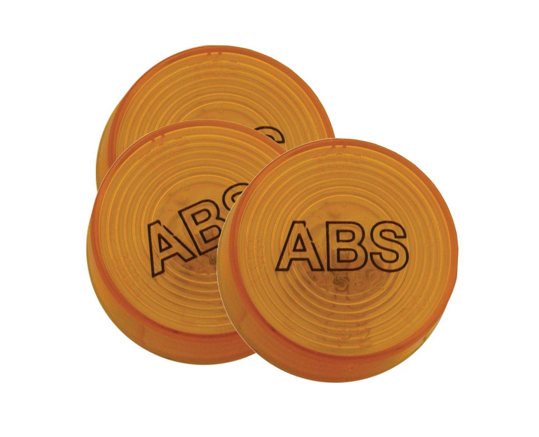 78333-3 – 2″ Clearance Marker Lights, ABS, Yellow, Bulk Pack