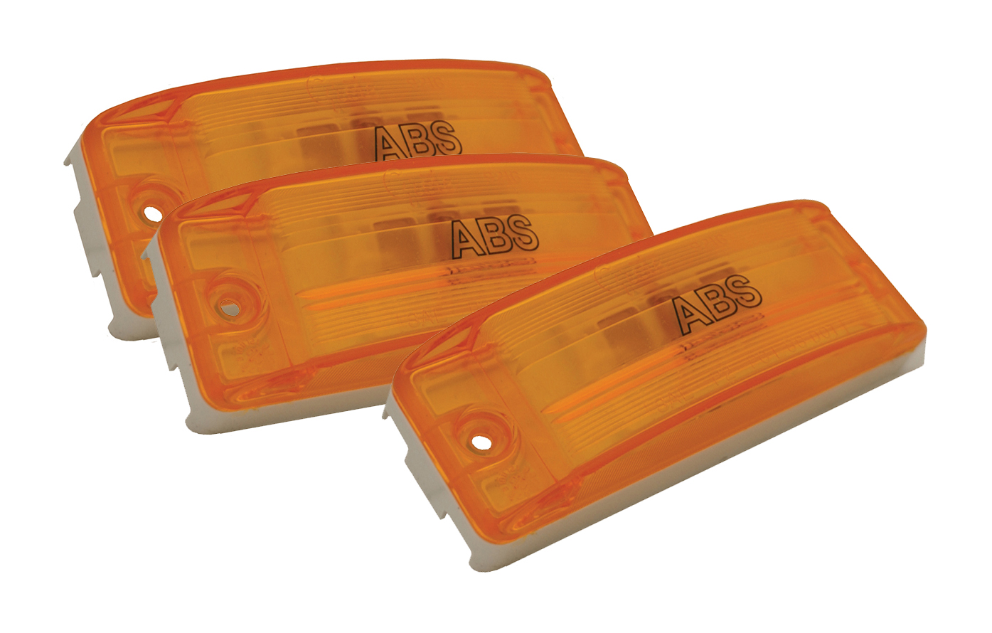 Grote Industries - 78363-3 – Sealed Turtleback® II Clearance Marker Light, ABS, Optic Lens, Yellow, Bulk Pack