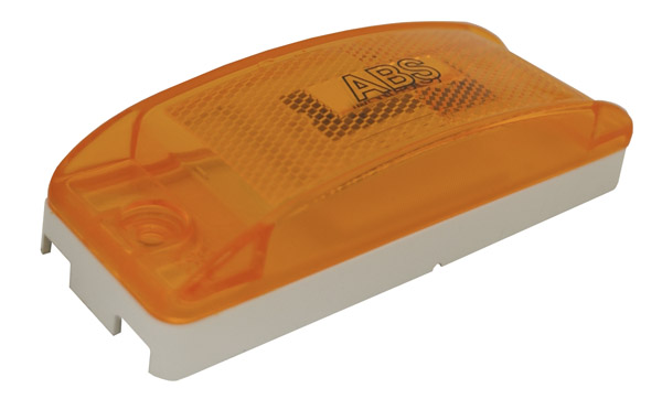 78403 – SuperNova® Sealed Turtleback® II LED Clearance Marker Light, ABS, Reflex Lens, Male Pin, Yellow