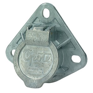 87220 – Ultra-Pin Receptacle Three-Hole Mount, Split Pin