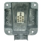 Ultra-Pin Receptacle Four-Hole Mount Nose Box, Solid Pin