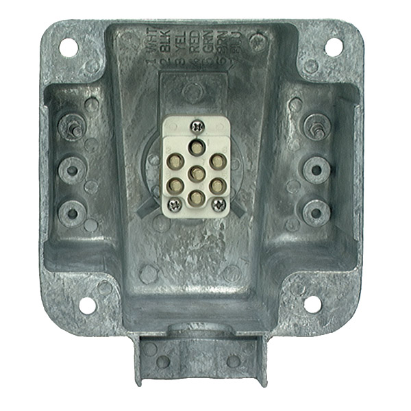 87590 – Ultra-Pin Receptacle Four-Hole Mount Nose Box, Solid Pin