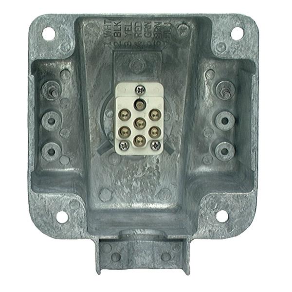 87830 – Ultra-Pin Receptacle Four-Hole Mount Nose Box, Split Pin
