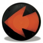 Yellow Stop Tail turn Replacement Lens With Arrow