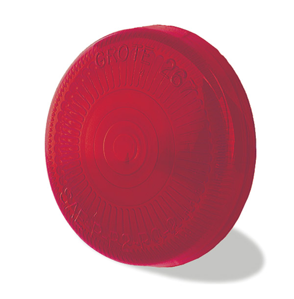 Grote Industries - 90162 – Clearance/Marker Replacement Lens, 2 1/2″ Surface Mount, Red