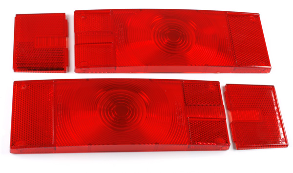 90652 – RV, Marine & Utility Replacement Lenses, Low-Profile Trailer, Red