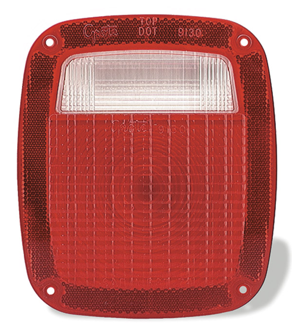 91302 – Stop Tail Turn Replacement Lens, Red