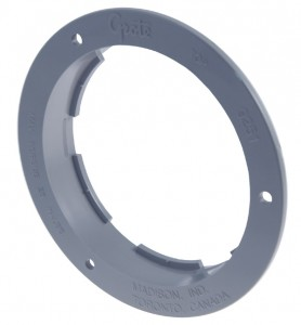 92511 – Theft-Resistant Flange For 4″ Round Lights, Gray