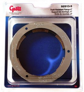 92513-5 – Theft-Resistant Flange For 4″ Round Lights, Chrome Plated, Retail Pack