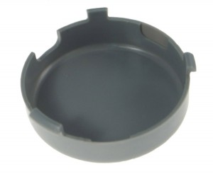 93670 – Theft-Resistant Mounting Flange & Pigtail Retention Cap For 2 1/2″ Round Lights, Cap, Gray