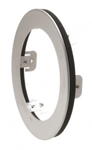 "Stainless Steel Snap-In Theft-Resistant Flange For 4"" Round LED Lights"