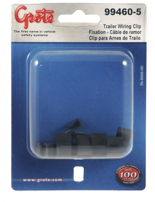 99460-5 - Trailer Wiring Frame Clip, 10pk, Black, Retail Pack