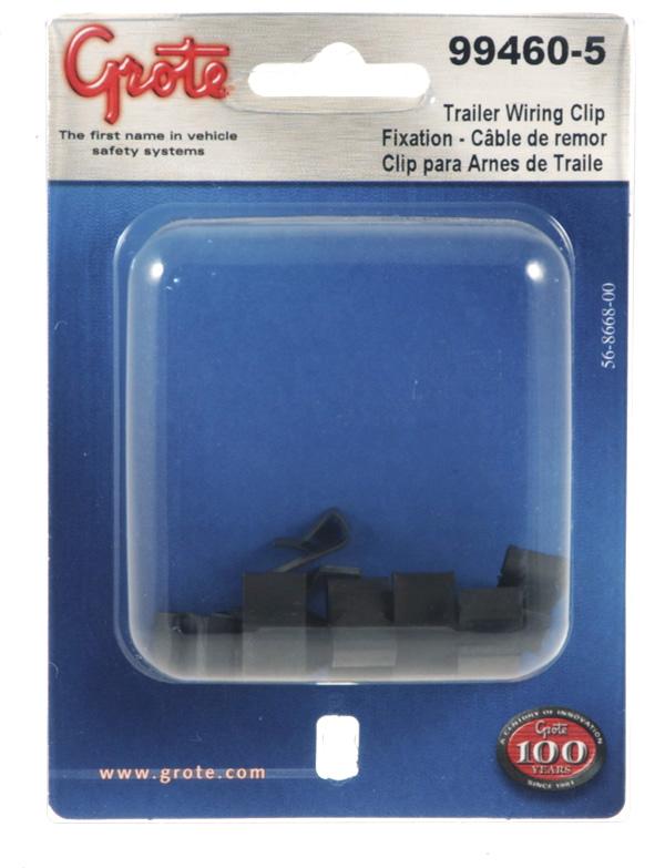 99460-5 – Trailer Wiring Frame Clip, 10pk, Black, Retail Pack