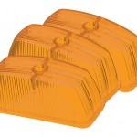 clearance marker replacement lenses school bus rectangular yellow bulk pack