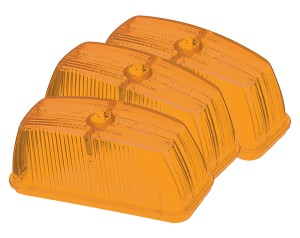 99803-3 – Clearance Marker Replacement Lenses, School Bus Rectangular, Yellow, Bulk Pack