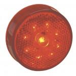 led hi count 2 half clearance marker light reflector red